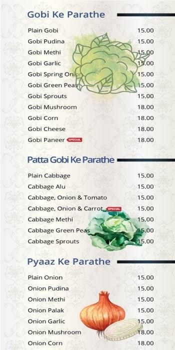 101 Parathas Menu7