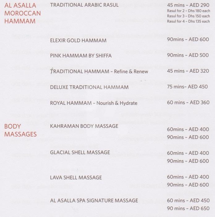 Al Asalla Spa Price1