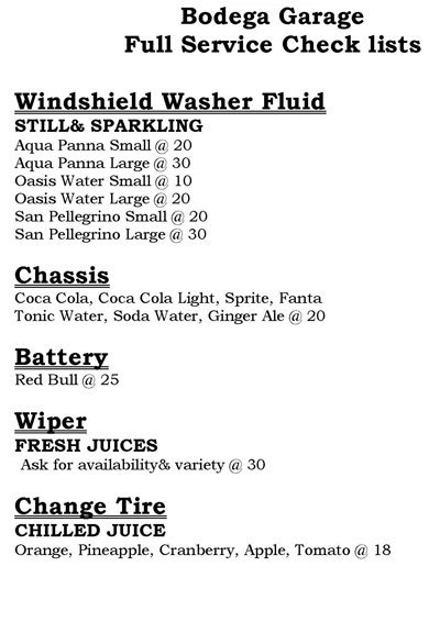 Bodega Garage Menu3