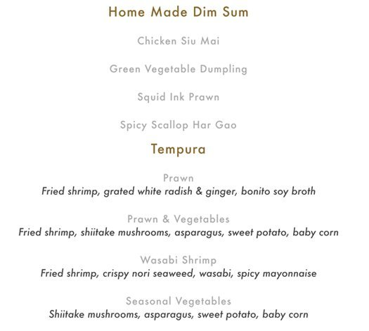 Buddha Bar Food Menu Pg 3