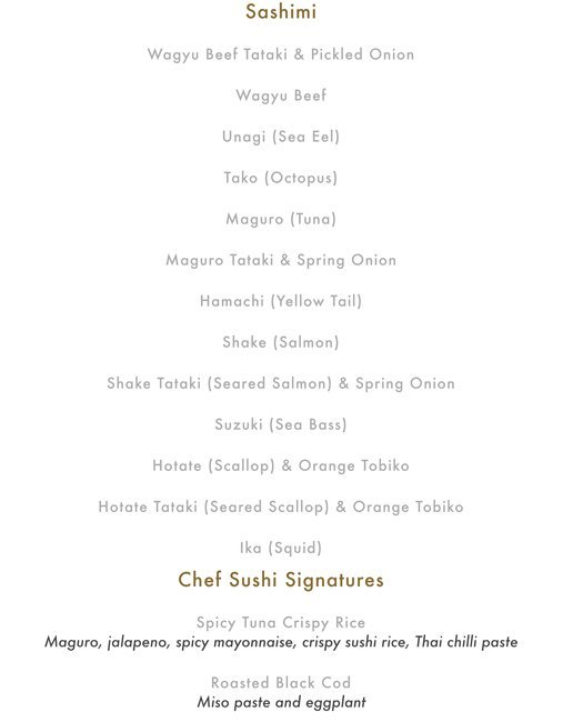 Buddha Bar Food Menu Pg 7