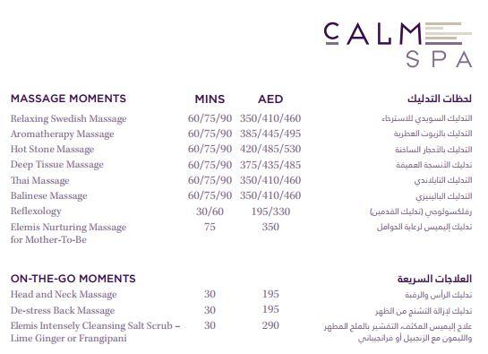 Calm Spa Price1