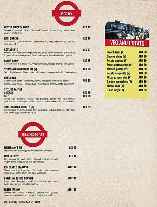 Double Decker Food Menu Pg 3