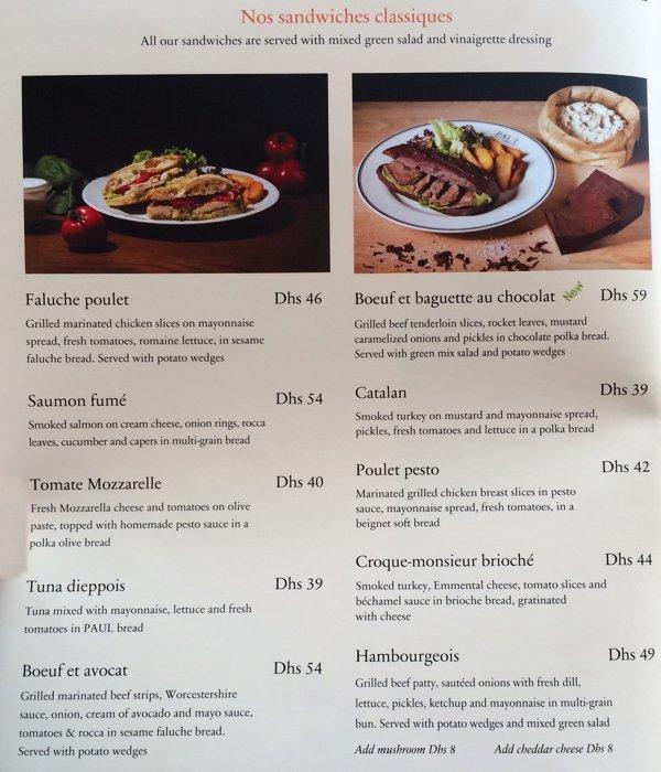 Nusret Dubai Karte.Paul Bakery Restaurant Do Something New