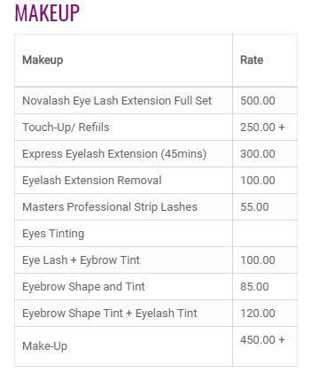Posh Ladies Salon Price9