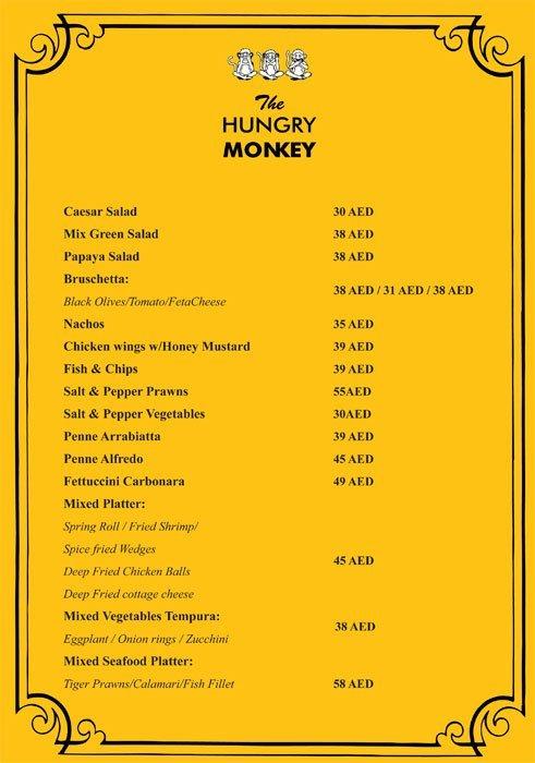 The Hungry Monkey Menu7