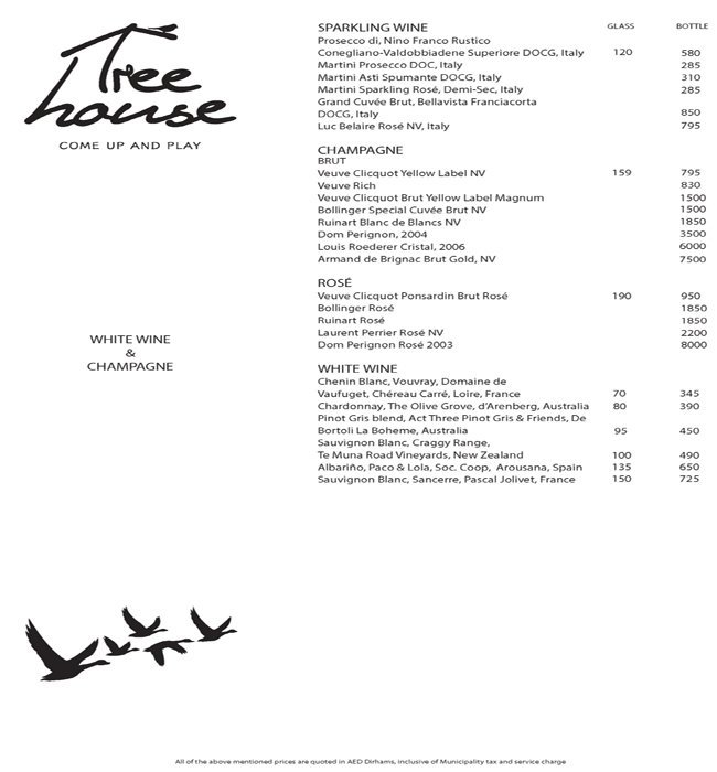 Treehouse Menu 5