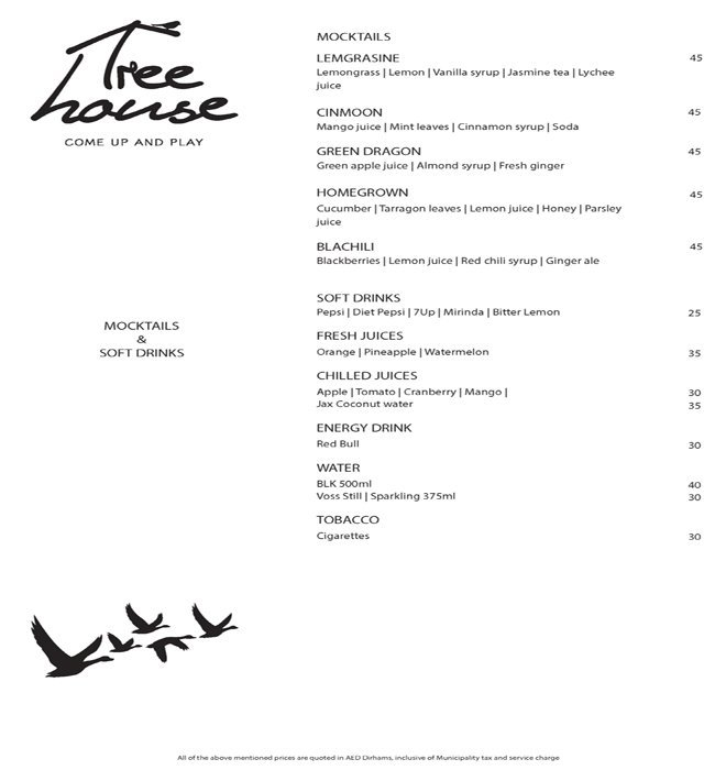 Treehouse Menu 7